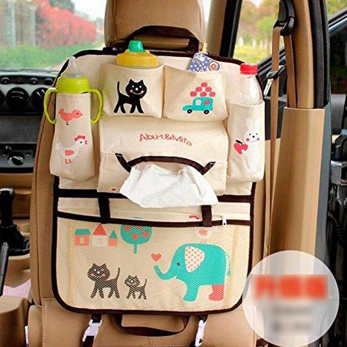 GudeHome Rücksitz Autoorganisator Comic Auto Rücksitz hängende Aufbewahrungstasche Multifunktionales Fahrzeug Rücksitz Veranstalter Taschen (Gmc Spielzeug Auto)