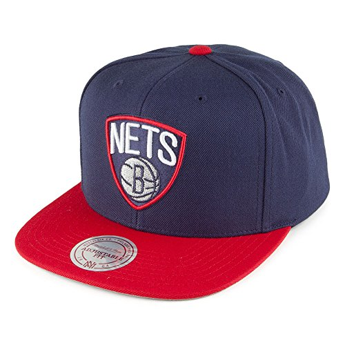 Casquette Current Throwback Brooklyn Nets marine-rouge MITCHELL & NESS Bleu Marine-Rouge