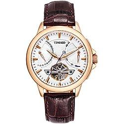 Time100 New Men's Navigator-Series Tourbillon-Style Mechanical Self Wind Watch #W70035G.02A