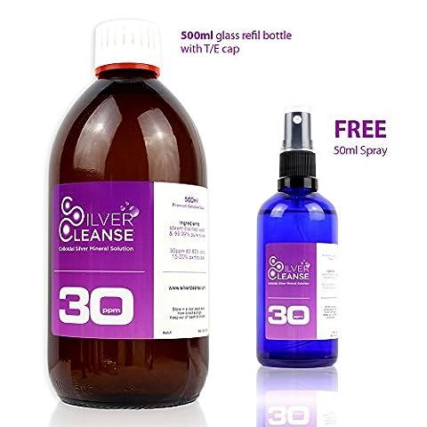500ml Colloidal Silver refill bottle + Full 50ml Spray (30 ppm)