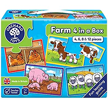 4 in a Box Jigsaw Puzzle Orchard Toys Animals