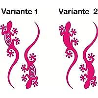 Folienaufkleber ***Gecko / Echse*** 2er Set - (Varianten,Größen und Farbauswahl)