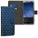 kwmobile BlackBerry KEYone (Key1) Hülle - Kunstleder Wallet Case für BlackBerry KEYone (Key1) mit Kartenfächern & Stand