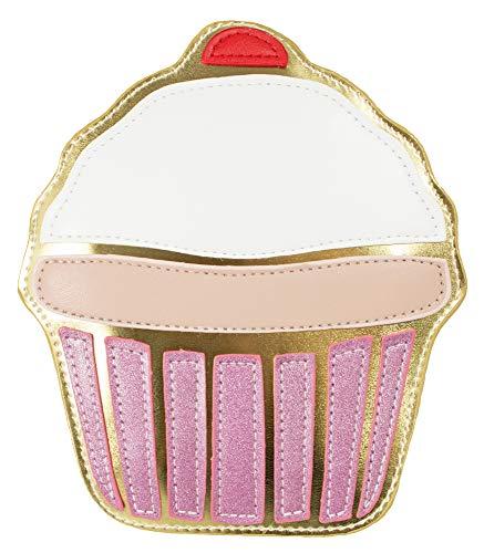 Das Kostümland Hochwertige Handtasche - Cupcake 18cm - Mädchen Damen Candy Girl Karnevalskostüm Fasching Festival Fun Bag