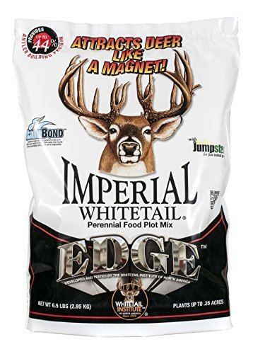 Whitetail Institute Imperial Edge Food Gummiknopf Seed (Spring And Fall Planting), 26-pound (1Acre) by Whitetail Institute -