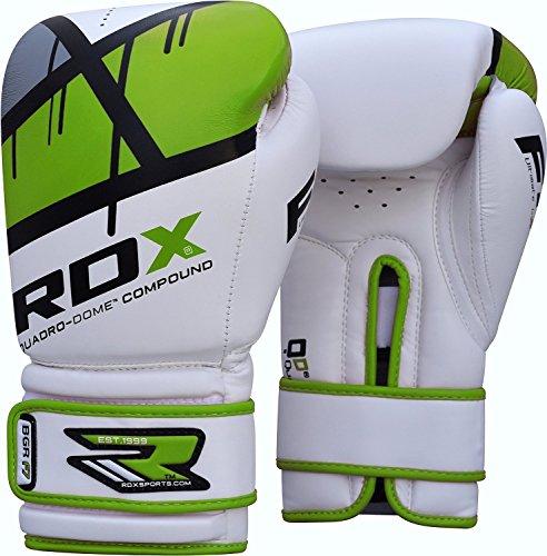 RDX Guantes de Boxeo para Adulto Hechos de Cuero Maya Hide Ideales para Kick Boxing Muay Thai Saco Entrenamiento Sparring