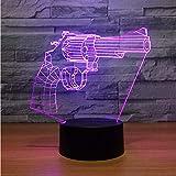 Die besten NEW Freund Guns - New Revolver Gun 3D Lampe 7 Farben Led Bewertungen