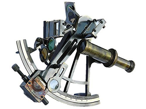 8 Henry Barrow & Co. London Solid Brass Marine Captain Sextant by Roorkee Instruments India - Solid Brass