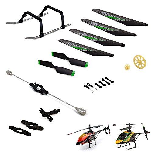 Preisvergleich Produktbild Crash-Kit Ersatzteile-Set für RC Hubschrauber Wltoys V912, Rotorblätter, Kufe, Stabilisator, Zahnrad und viele weitere Ersatzteile/Zubehör, Neu