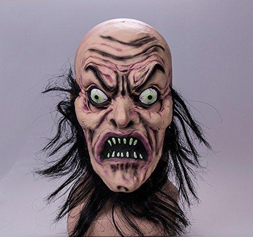 Halloween Ghost Festival Terror Ghost Gesicht Maske Maske Scary Devil Ghost Devil House Party Dress Up (Leuchten Kürbis Gesicht Luftballons)