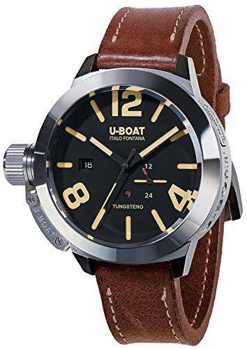 U-Boat Classico Tungsten Movelock Automatic Watch, Steel, Black, 45 mm, 8070
