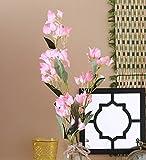 Fourwalls 95cm Tall Beautiful Artificial Bougainvillea Flower Stem (Set of 2, Light Pink)