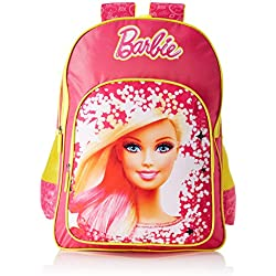 Barbie Polyester Pink and Yellow School Bag (Age group :6-8 yrs)