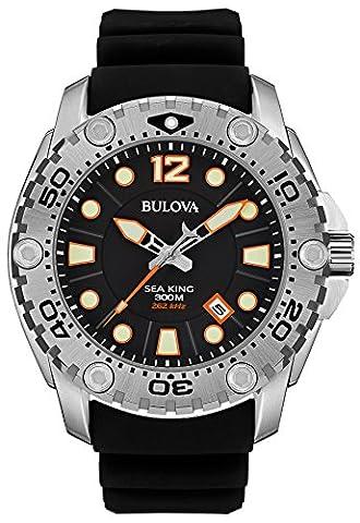 Bulova Herren-Armbanduhr Sea King Analog Quarz Silikon 96B228