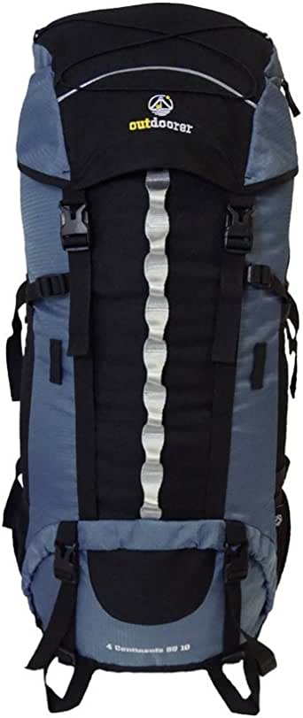 outdoorer Backpacker-Rucksack mit Regenhülle 4 Continents 85+10 - Reise-Rucksack mit Frontöffnung für Trekkingtouren, Weltreisen und Backpacking