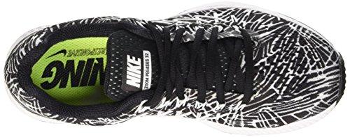 Nike Wmns Air Zoom Pegasus 32 Print, gymnastique femme Noir (Noir/Blanc)