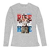 Bianco John Cena Rise Above Hate Long Sleeve T Shirts for Honey XXXX-L grigio xxl
