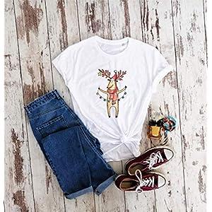Bio-Baumwolle, Weihnachten Hirsch T-shirt, Geschenk Shirt, unisex T-shirt, Bio-T-shirt, minimalistische Shirt…