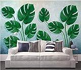 Keshj Benutzerdefinierte 3D Wallpaper Wandbilder Wandaufkleber Hand Gezeichnet Tropischen Regenwald Pflanze Hintergrund Wand Dekorativ-350Cmx245Cm