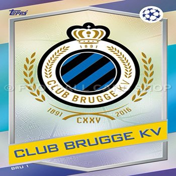 2016 17 MATCH ATTAX CHAMPIONS LEAGUE CLUB BRUGGE TEAM SET 18 CARDS