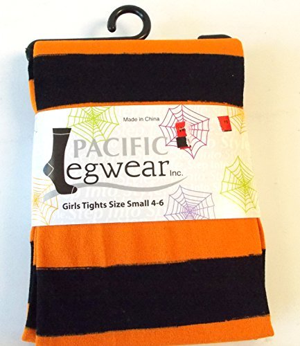 orange-black-striped-halloween-child-tights-m-7-10-nip