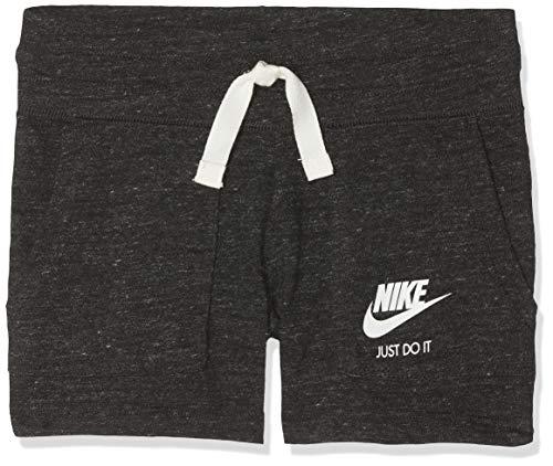 Nike Mädchen Vintage Shorts, Schwarz (Black/Sail), L