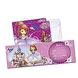 PRINCESA SOFIA Prinzessin Sofia–6Einladungen mit Umschlag, (verbetena 014000802)