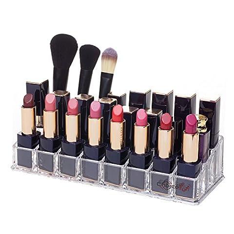 Choice Fun Ebenen Klar Acryl Make Up Veranstalter für Lippenstift mit 24 Abteil