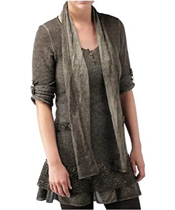 Joe Browns Women's Whimsical Knit Tunic And Scarf Taupe (12/14)