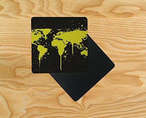 eltkarte Untersetzer aus Holz, 95 x 95 mm, holz, mehrfarbig, 12er-Pack ()