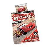 Herding 2629212063 Disney`s Cars Bettwäsche, Baumwolle, rot, 100 x 135 cm