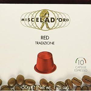 Miscela d'Oro Red - Capsule Nes - Pacco da 10 x 50 g - Totale: 500 g