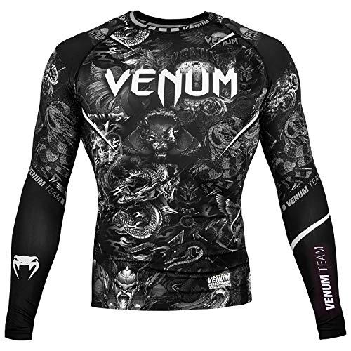 Venum Art Rash Guard - Long Sleeve - For Men - Fitness BJJ No-Gi Gym MMA Crossfit-s Rashguard con Mangas Largas Hombre
