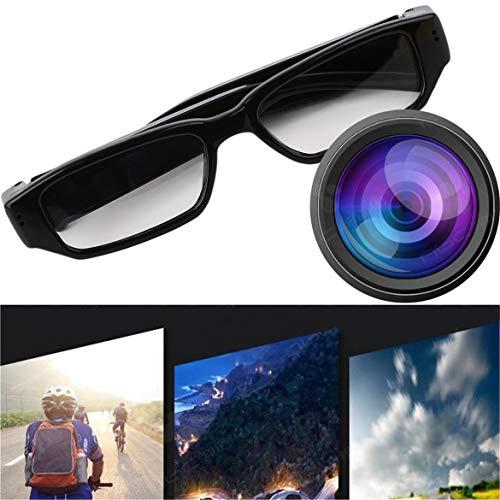 Mini 1080P HD Videokamera Brille Eyewear DVR Videorecorder Cam Camcorder Für Outdoor-Sportarten Wandern Kamera (Schwarz)