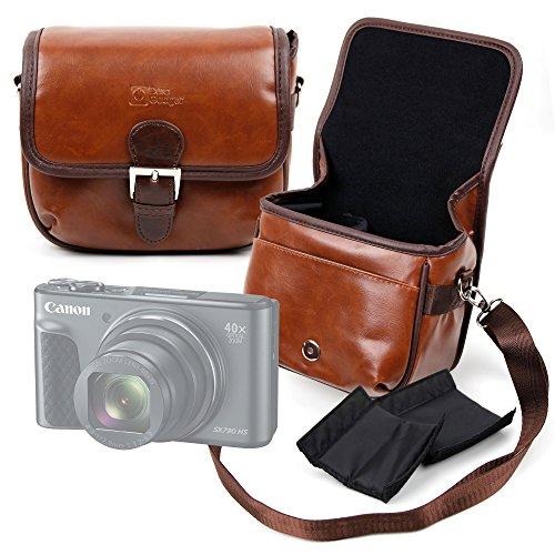 Galleria fotografica DURAGADGET Borsa Vintage Per Fotocamere Canon PowerShot SX730 HS | PowerShot G9 X Mark II | Powershot G1X mkII | G3 X | G5X | G7 X Mark II | SX720 HS | PowerShot SX620 HS - Con Tracolla Regolabile - Alta Qualità