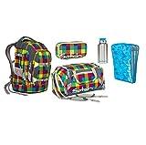 Satch Pack - Set 5 tlg. - Beach Leach - Schulrucksack + Sporttasche + Schlamperbox + Edelstahltrinkflasche + Tripleflex