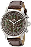 Wellington Men's Quartz Watch with Brown Dial Chronograph Display and Brown Stainless Steel Bracelet WN302-195