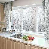 Kinlo 90*200cm Sichtschutz Fensterfolie Sichtschutzfolie aus PVC Statisch ohne Klebstoff Glasfenster für Tür Fenster Weiss Type B