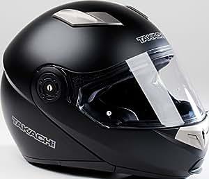 Klapphelm, Rollerhelm, Motorradhelm TAKACHI TK380 schwarz-matt - Größe XXL