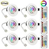 LED Spots Encastrables Orientable GU10 Ampoule RGB Couleur Changement Lampe Blanc...
