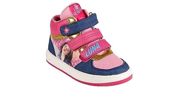 Disney Soy Luna - Scarpe Sportive Sneakers Alte con Chiusura a Strappo - Bambina - Prodotto Originale (35)
