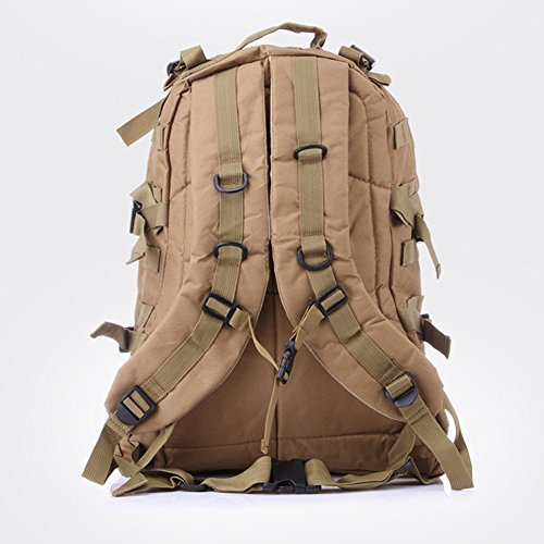 HOUTBY® Unisex classica tattica militare zaini Laptop Backpack borsa zaino di campeggio Shoulder Bag Messenger Cachi