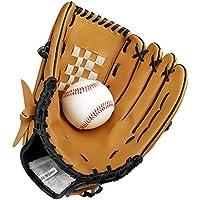 Guante de béisbol deportes guantes de bateo de receptor de la mano izquierda manta de piel sintética de béisbol guante con 10,5 pulgadas para niños