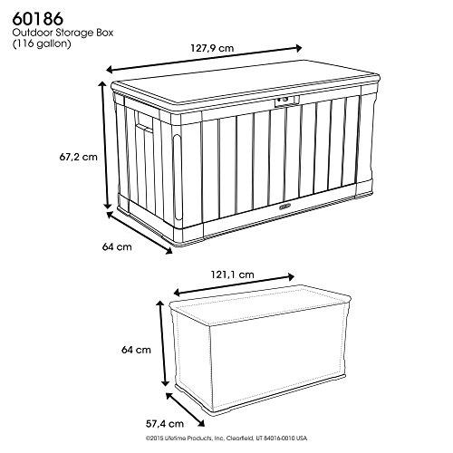 Lifetime Aufbewahrungstruhe für draußen braun 127,9x 64x 67,2cm 60186
