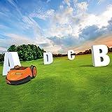 Worx Landroid Mähroboter SO500i bis 500 m², WiFi, App Programmierung, Rasenkanten Mähfunktion, Multi Zonen, WR105SI, Orange -