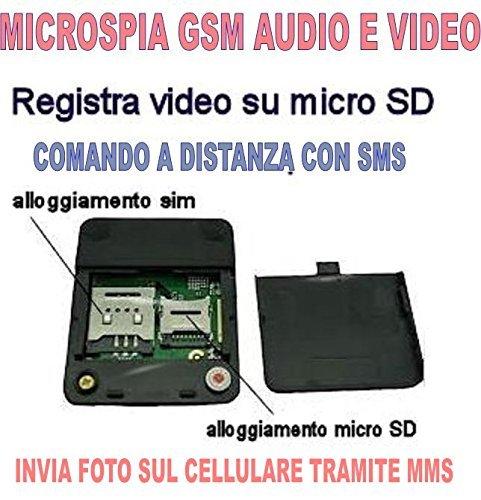 ABHÖRGERÄT GSM X009 LICHT AUDIO-VIDEO ABFANGEN UMGEBUNG WANZE SD8GB CW26 (1900 Klare Lichter)