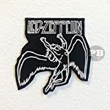 Led Zeppelin Flying Man Logo Music Band Iron on Sew on Embroidered Patch