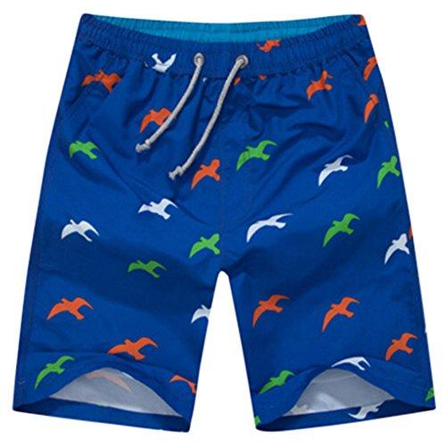 Männer Casual Shorts Strand Shorts Stilvolle Quick-dry Sport Shorts seemöve blau
