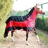 Horse Blanket Coperta di affluenza del Cavallo combinata Inverno Combo Collo Pieno Impermeabile Fisso Combo Unisex per Equitazione Pony Cavallo