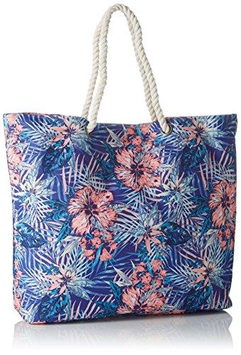 Roxy Printed Tropical Vibe, Borsa da Spiaggia Stampata Donna, Taglia Unica Royal Blue Beyond Love